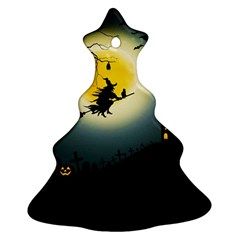 Halloween Landscape Christmas Tree Ornament (two Sides)