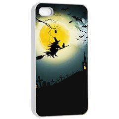Halloween Landscape Apple Iphone 4/4s Seamless Case (white)