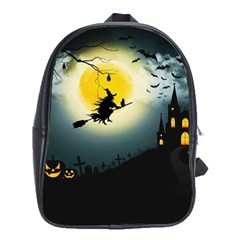 Halloween Landscape School Bag (xl)