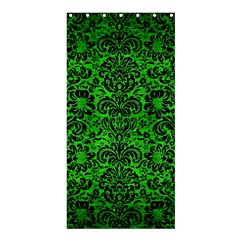 Damask2 Black Marble & Green Brushed Metal (r) Shower Curtain 36  X 72  (stall)