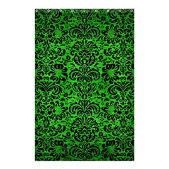 Damask2 Black Marble & Green Brushed Metal (r) Shower Curtain 48  X 72  (small)