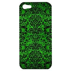 Damask2 Black Marble & Green Brushed Metal (r) Apple Iphone 5 Hardshell Case