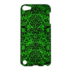 Damask2 Black Marble & Green Brushed Metal (r) Apple Ipod Touch 5 Hardshell Case