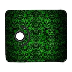 Damask2 Black Marble & Green Brushed Metal (r) Galaxy S3 (flip/folio)