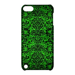 Damask2 Black Marble & Green Brushed Metal (r) Apple Ipod Touch 5 Hardshell Case With Stand