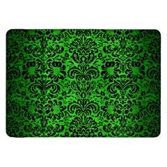 Damask2 Black Marble & Green Brushed Metal (r) Samsung Galaxy Tab 8 9  P7300 Flip Case