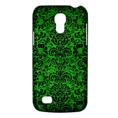 Damask2 Black Marble & Green Brushed Metal (r) Galaxy S4 Mini