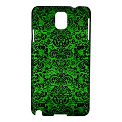 Damask2 Black Marble & Green Brushed Metal (r) Samsung Galaxy Note 3 N9005 Hardshell Case