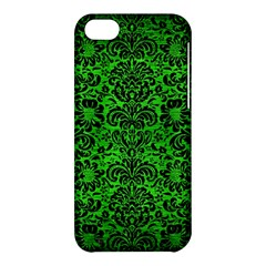 Damask2 Black Marble & Green Brushed Metal (r) Apple Iphone 5c Hardshell Case
