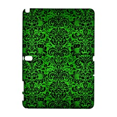 Damask2 Black Marble & Green Brushed Metal (r) Galaxy Note 1