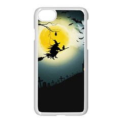 Halloween Landscape Apple Iphone 7 Seamless Case (white)