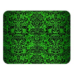 Damask2 Black Marble & Green Brushed Metal (r) Double Sided Flano Blanket (large)