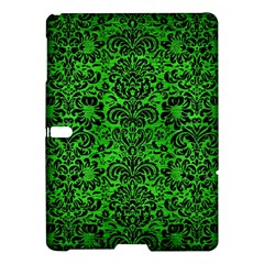 Damask2 Black Marble & Green Brushed Metal (r) Samsung Galaxy Tab S (10 5 ) Hardshell Case