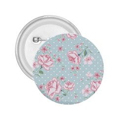 Shabby Chic,pink,roses,polka Dots 2 25  Buttons