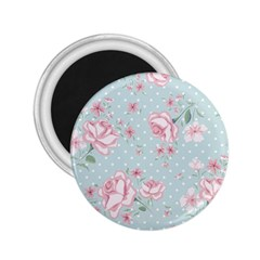 Shabby Chic,pink,roses,polka Dots 2 25  Magnets