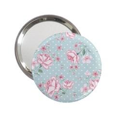 Shabby Chic,pink,roses,polka Dots 2 25  Handbag Mirrors