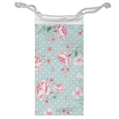 Shabby Chic,pink,roses,polka Dots Jewelry Bag