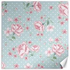 Shabby Chic,pink,roses,polka Dots Canvas 20  X 20