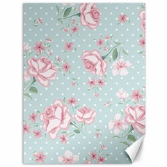 Shabby Chic,pink,roses,polka Dots Canvas 36  X 48