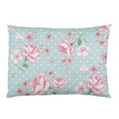 Shabby Chic,pink,roses,polka Dots Pillow Case