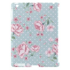 Shabby Chic,pink,roses,polka Dots Apple Ipad 3/4 Hardshell Case (compatible With Smart Cover)