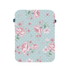 Shabby Chic,pink,roses,polka Dots Apple Ipad 2/3/4 Protective Soft Cases