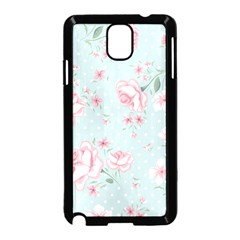 Shabby Chic,pink,roses,polka Dots Samsung Galaxy Note 3 Neo Hardshell Case (black)