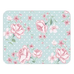 Shabby Chic,pink,roses,polka Dots Double Sided Flano Blanket (large)