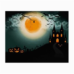 Halloween Landscape Small Glasses Cloth