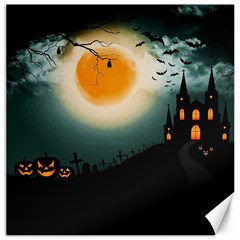 Halloween Landscape Canvas 20  X 20