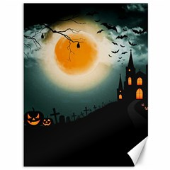 Halloween Landscape Canvas 36  X 48