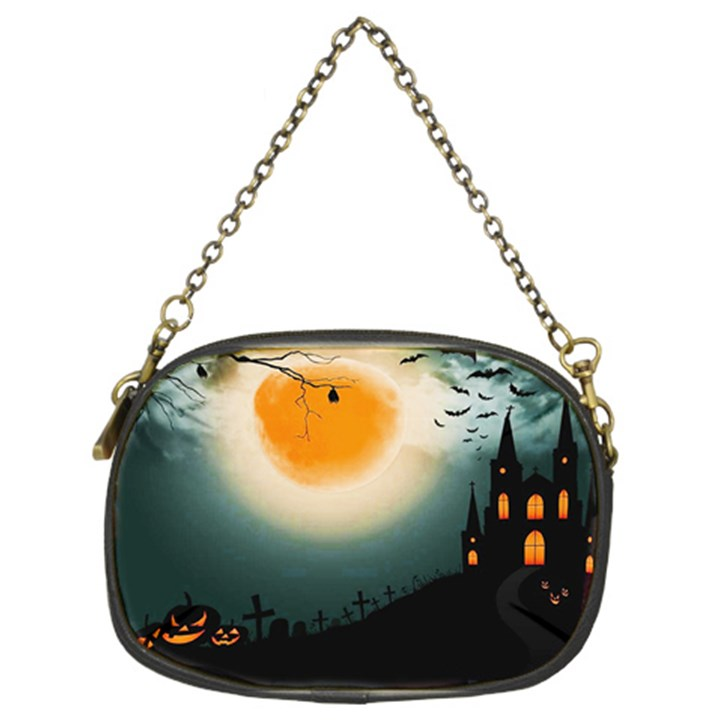 Halloween landscape Chain Purses (Two Sides)