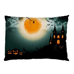 Halloween Landscape Pillow Case (two Sides)