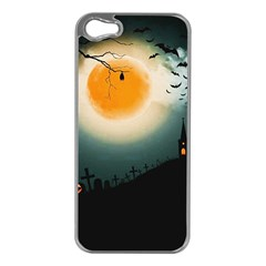 Halloween Landscape Apple Iphone 5 Case (silver)