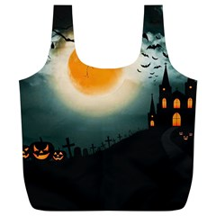 Halloween Landscape Full Print Recycle Bags (l)
