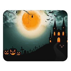 Halloween Landscape Double Sided Flano Blanket (large)