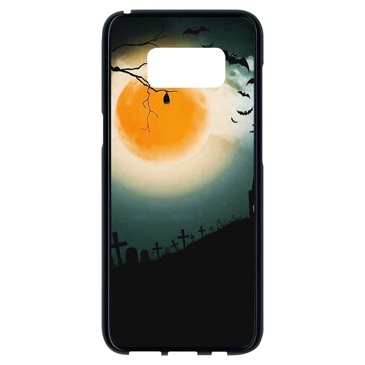 Halloween landscape Samsung Galaxy S8 Black Seamless Case