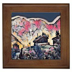 Modern Abstract Painting Framed Tiles