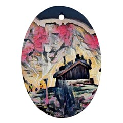 Modern Abstract Painting Ornament (oval)