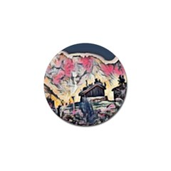 Modern Abstract Painting Golf Ball Marker (10 Pack)
