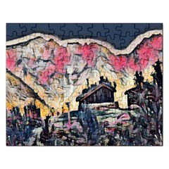 Modern Abstract Painting Rectangular Jigsaw Puzzl