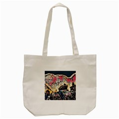 Modern Abstract Painting Tote Bag (cream)