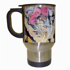 Modern Abstract Painting Travel Mugs (white)