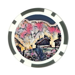 Modern Abstract Painting Poker Chip Card Guard