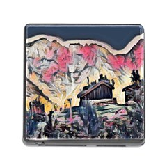 Modern Abstract Painting Memory Card Reader (square)