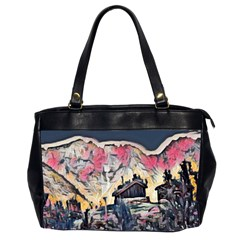 Modern Abstract Painting Office Handbags (2 Sides)