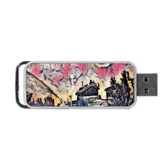 Modern Abstract Painting Portable Usb Flash (two Sides)