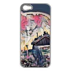 Modern Abstract Painting Apple Iphone 5 Case (silver)