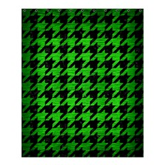 Houndstooth1 Black Marble & Green Brushed Metal Shower Curtain 60  X 72  (medium)