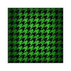 Houndstooth1 Black Marble & Green Brushed Metal Acrylic Tangram Puzzle (6  X 6 )